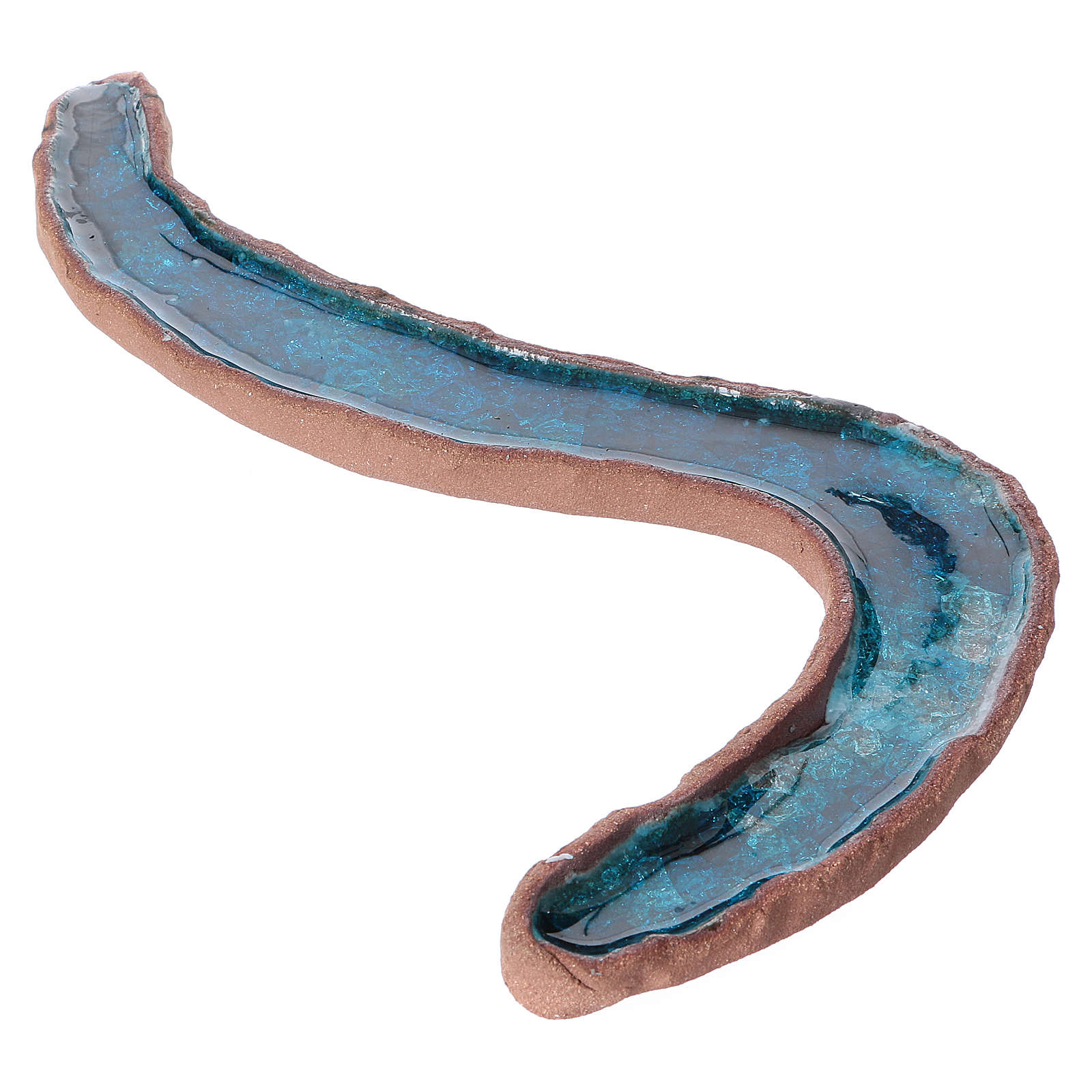 Río doble meandro cerámica esmaltada 5x30x15 cm 4