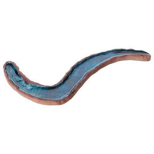 Fiumiciattolo doppia ansa ceramica smaltata 5x30x15 cm 3