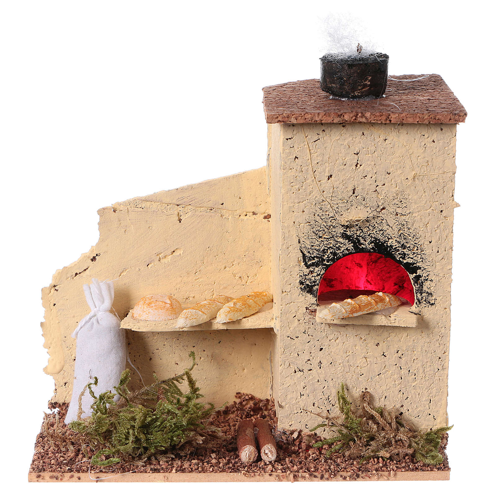 Cork oven with flame effect 10x10x5 cm 4