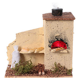 Cork oven with flame effect 10x10x5 cm s1