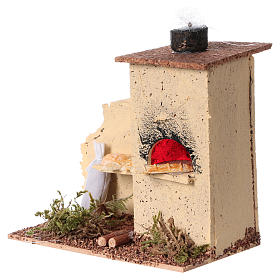 Cork oven with flame effect 10x10x5 cm s2