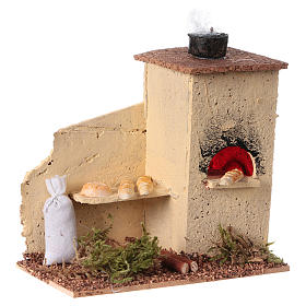 Cork oven with flame effect 10x10x5 cm s3