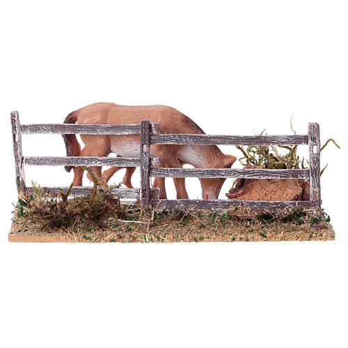 Recinto con cavalli 5x10x10 cm 4
