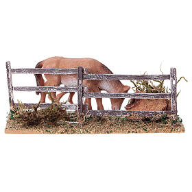 Miniature fence with horses, 5x10x10 cm s4