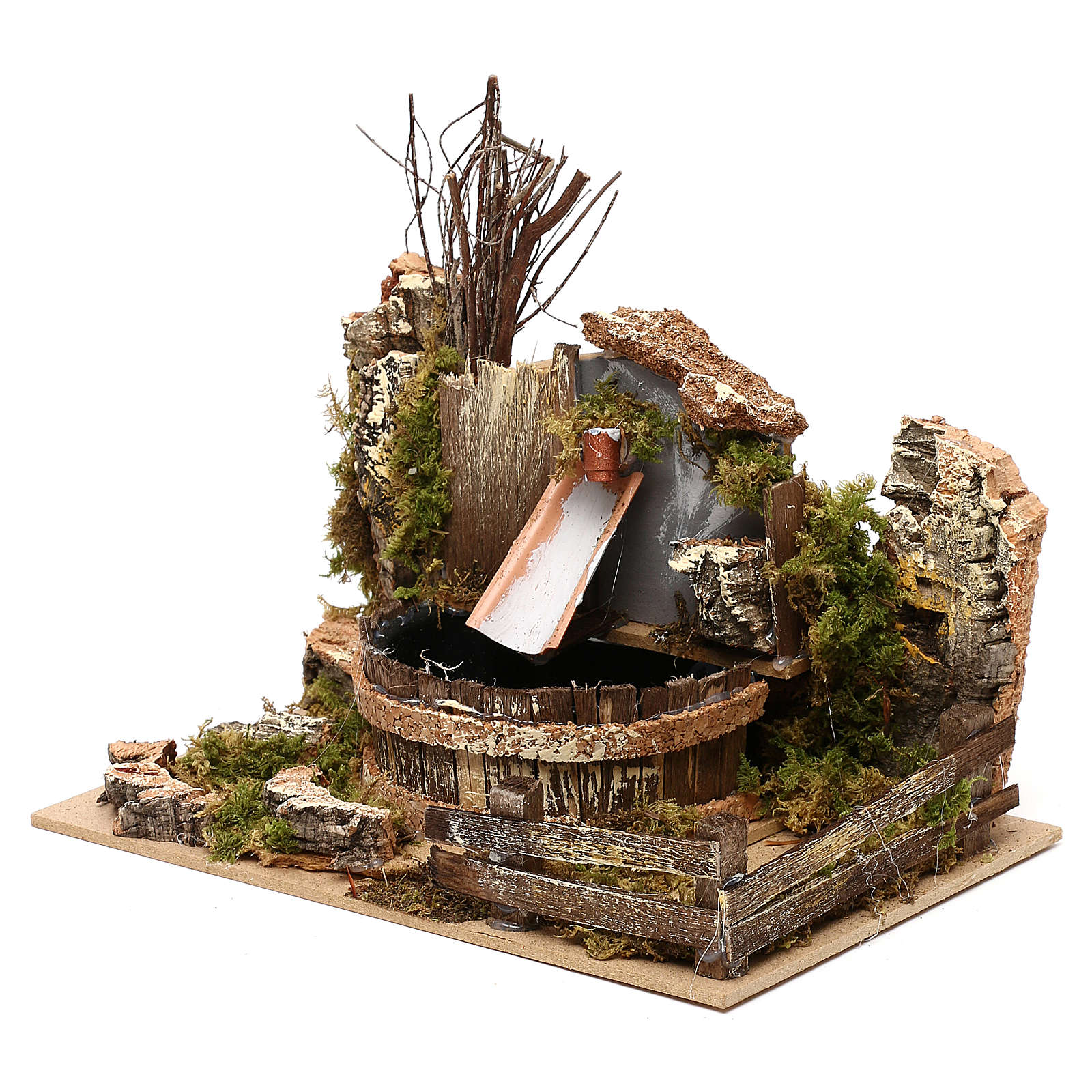 Fountain with pump for Nativity scenes 20x15x15 cm 4