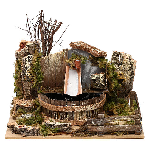 Fountain with pump for Nativity scenes 20x15x15 cm 1