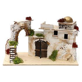Ambientações para Presépio: lojas, casas, poços: Casa árabe com arco 20x30x15 cm