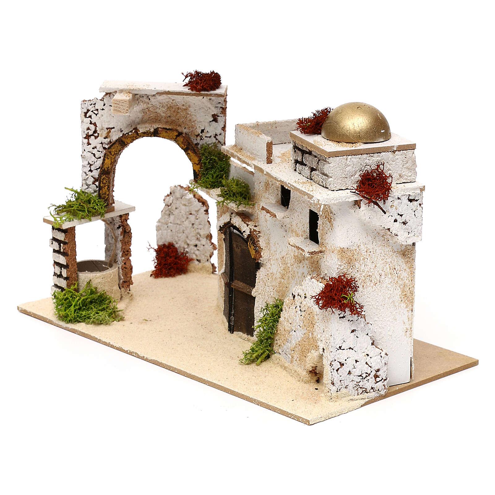 Arab house with arch, 20x30x15 cm 4