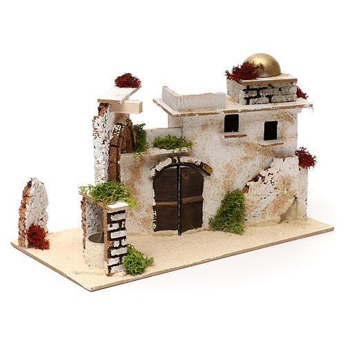 Arab house with arch, 20x30x15 cm 3