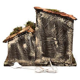 Hut with light for Nativity scene 35x25x30 cm s4