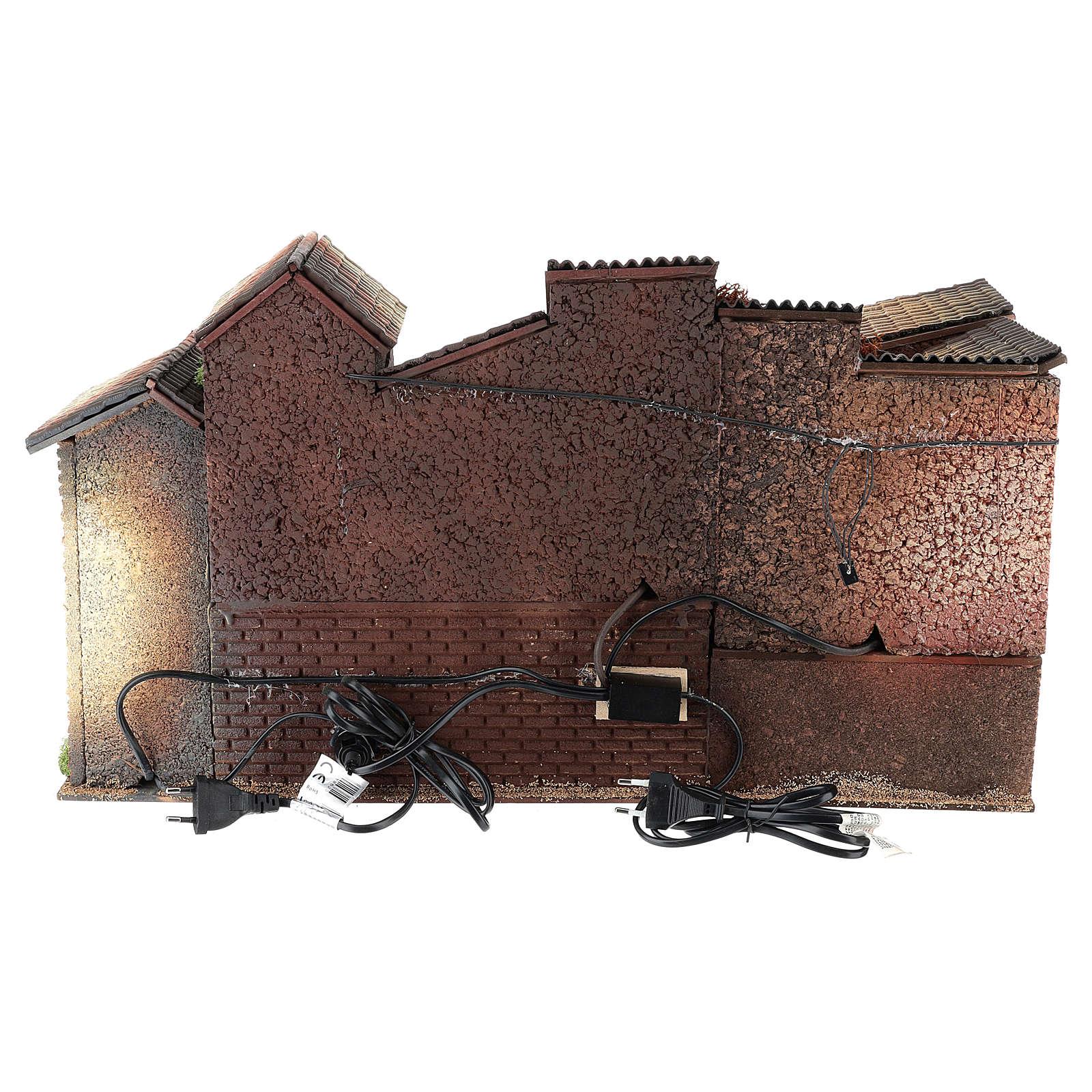 Presépio com fontanário forno 35x60x35 cm para presépio com figuras de 8 cm de altura média 4