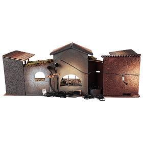 Belén con luces y fuente funcionante 40x95x45 cm 12 cm s4