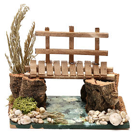 River with walkway 13x10x10 cm for Nativity Scenes of 7 cm s1