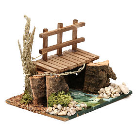 River with walkway 13x10x10 cm for Nativity Scenes of 7 cm s3
