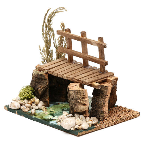 River with walkway 13x10x10 cm for Nativity Scenes of 7 cm 2
