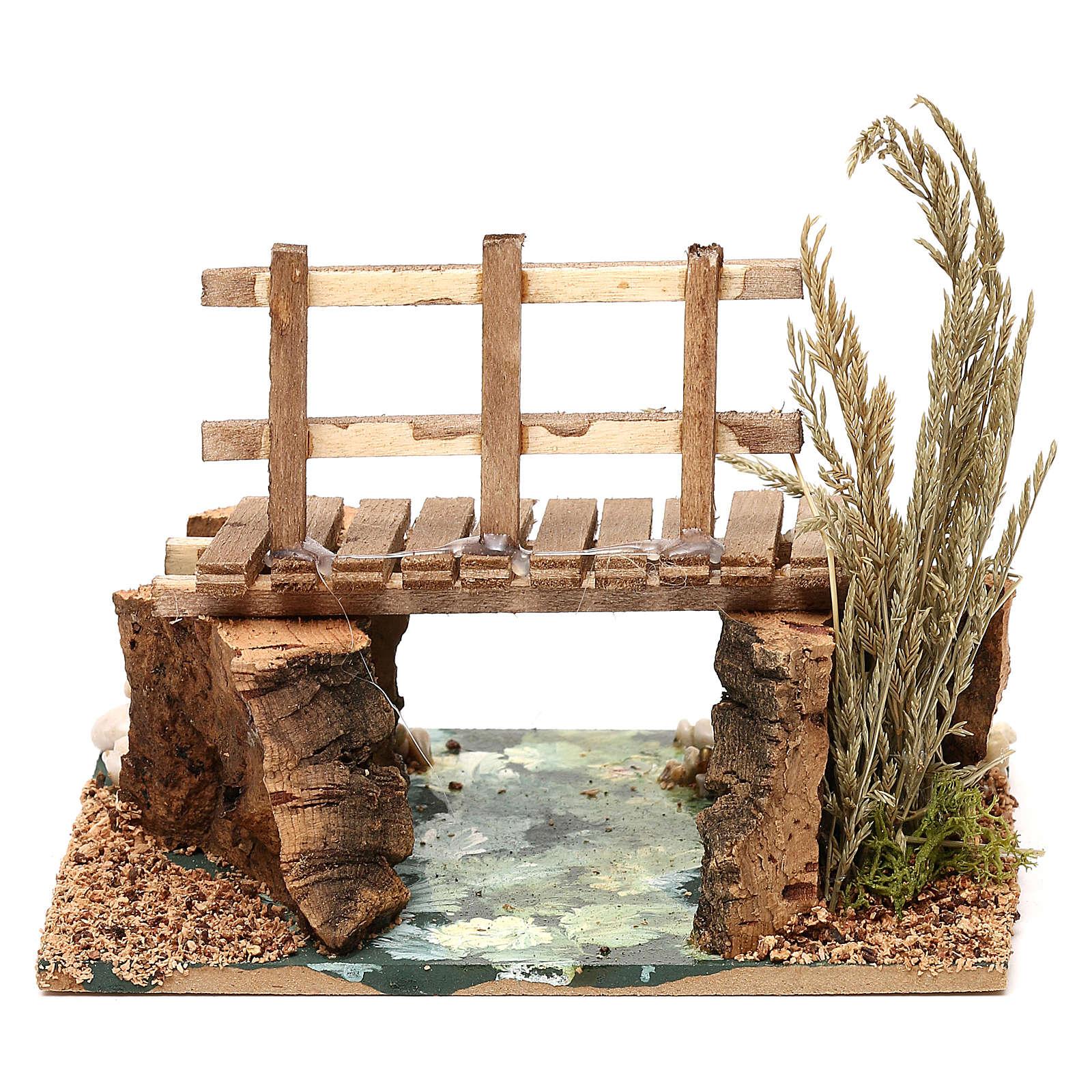 Río con pasarela 13x10x10 cm para belén 7 cm 4