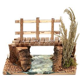 Rivière avec passerelle 13x10x10 cm pour crèche 7 cm s4