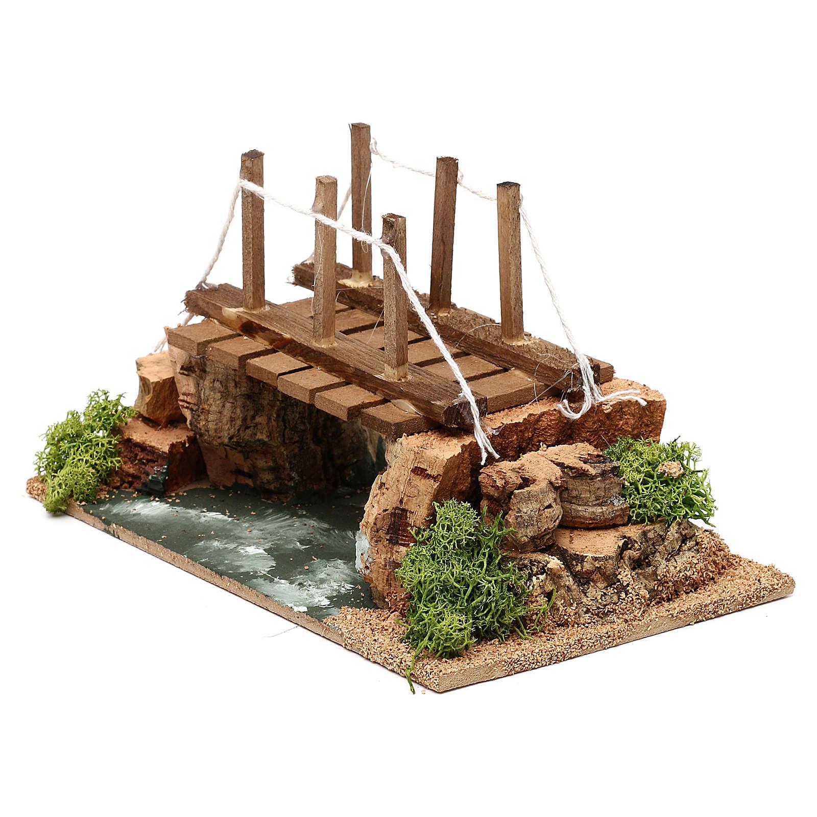 Río con puente 20x15x15 cm para belén 8-10 cm 4