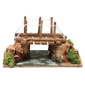 Río con puente 20x15x15 cm para belén 8-10 cm s1