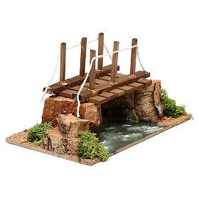 Río con puente 20x15x15 cm para belén 8-10 cm s3