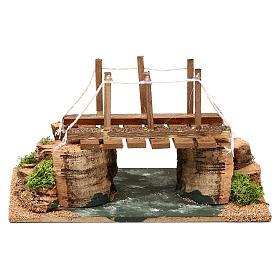 Río con puente 20x15x15 cm para belén 8-10 cm s4