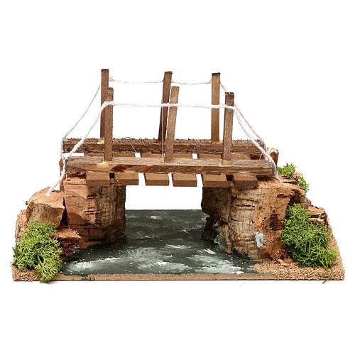 Río con puente 20x15x15 cm para belén 8-10 cm 1