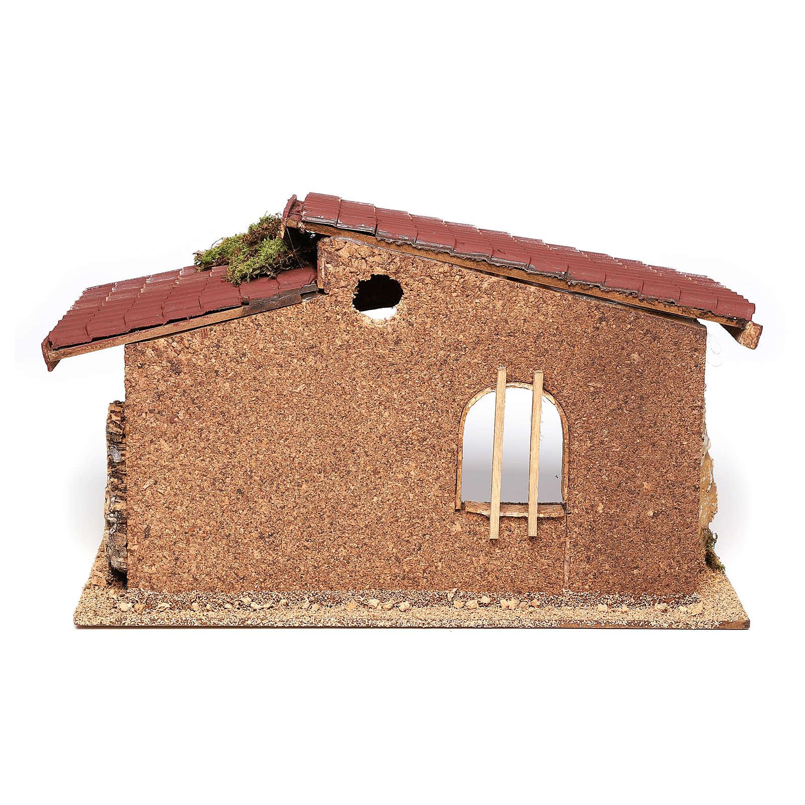 Cork and moss hut 21x35x20 cm 4