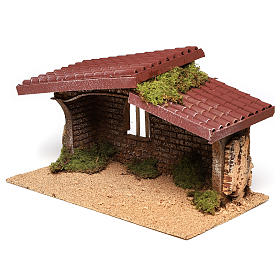 Cork and moss hut 21x35x20 cm s2