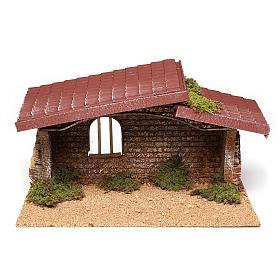 Cabane crèche simple liège et mousse 21x35x20 cm s1