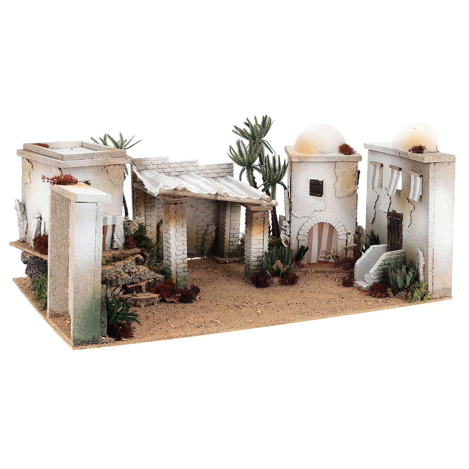 Parte de cenário árabe em cortiça cúpula e balcão 35x65x35 cm CENTRAL 4