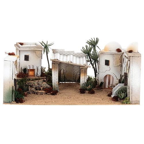 Parte de cenário árabe em cortiça cúpula e balcão 35x65x35 cm CENTRAL 1