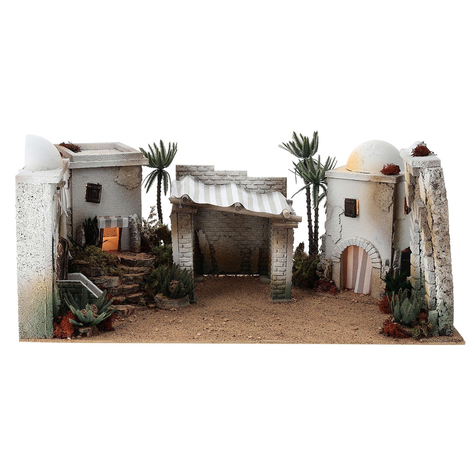 Composizione araba in sughero cupola e terrazzo 30x60x40 cm LATO DX 4