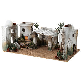 Composizione araba in sughero cupola e terrazzo 30x60x40 cm LATO DX s2