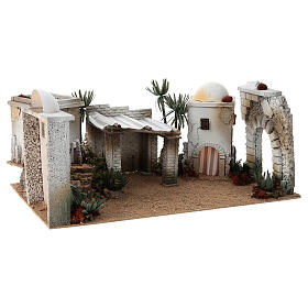 Composizione araba in sughero cupola e terrazzo 30x60x40 cm LATO DX s3