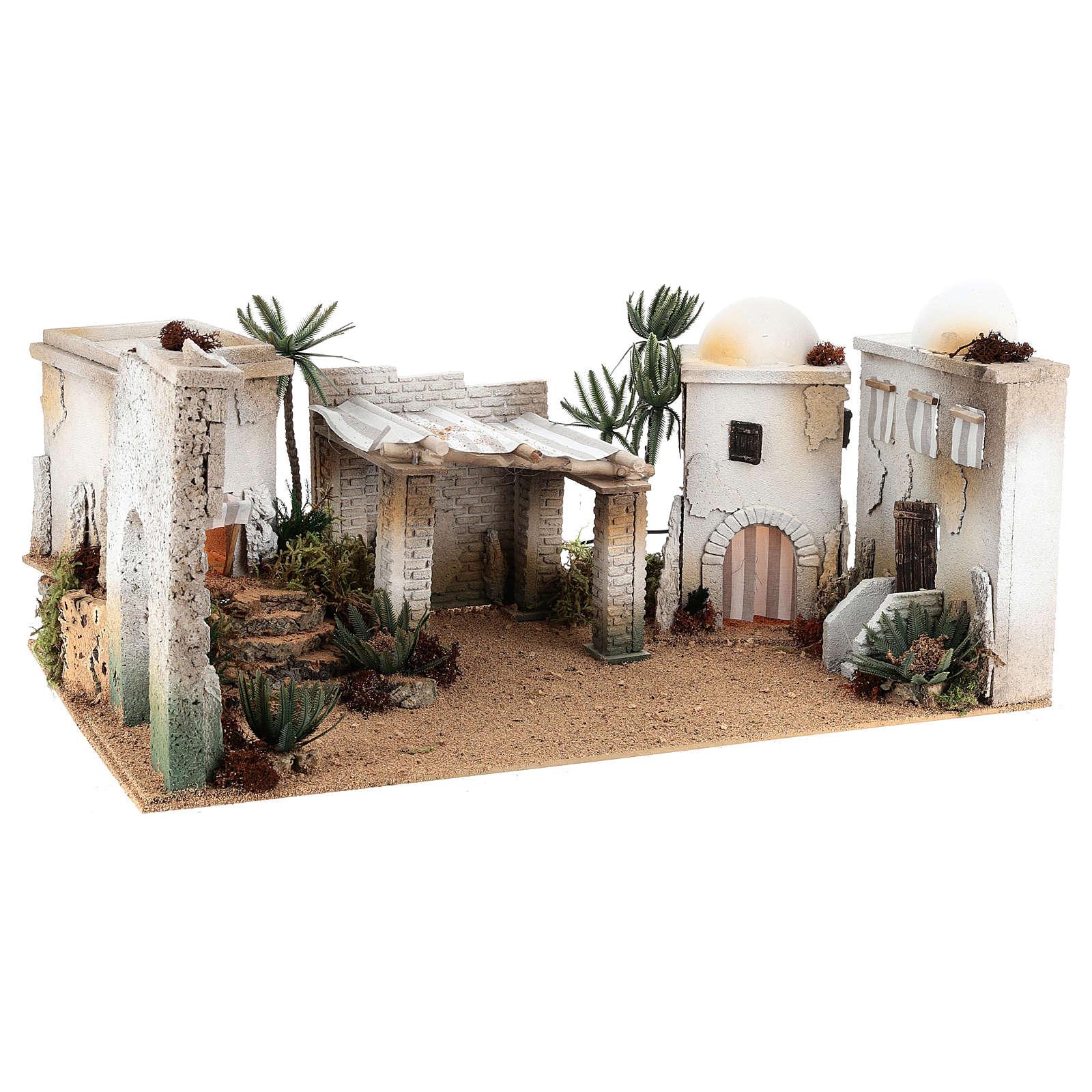 Composizione paesaggio arabo con accessori 30x60x40 cm LATO SX 4