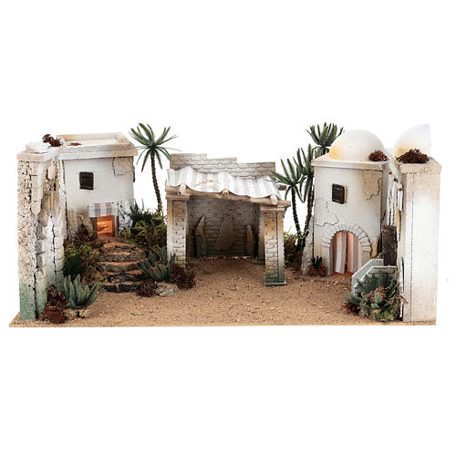 Composizione paesaggio arabo con accessori 30x60x40 cm LATO SX 1