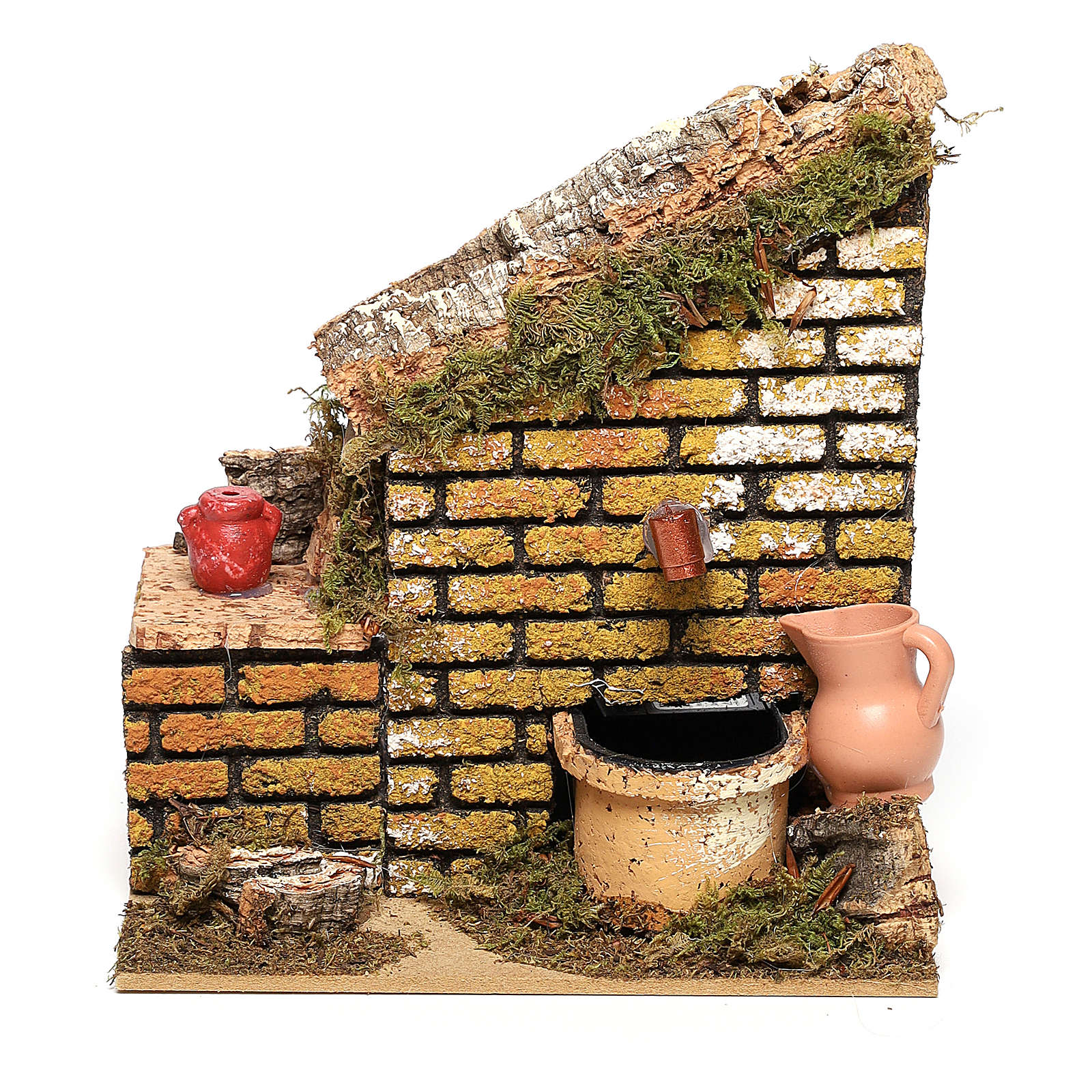 Fuente con bomba y pared de 15x15x 10 cm belén 8-10 cm 4