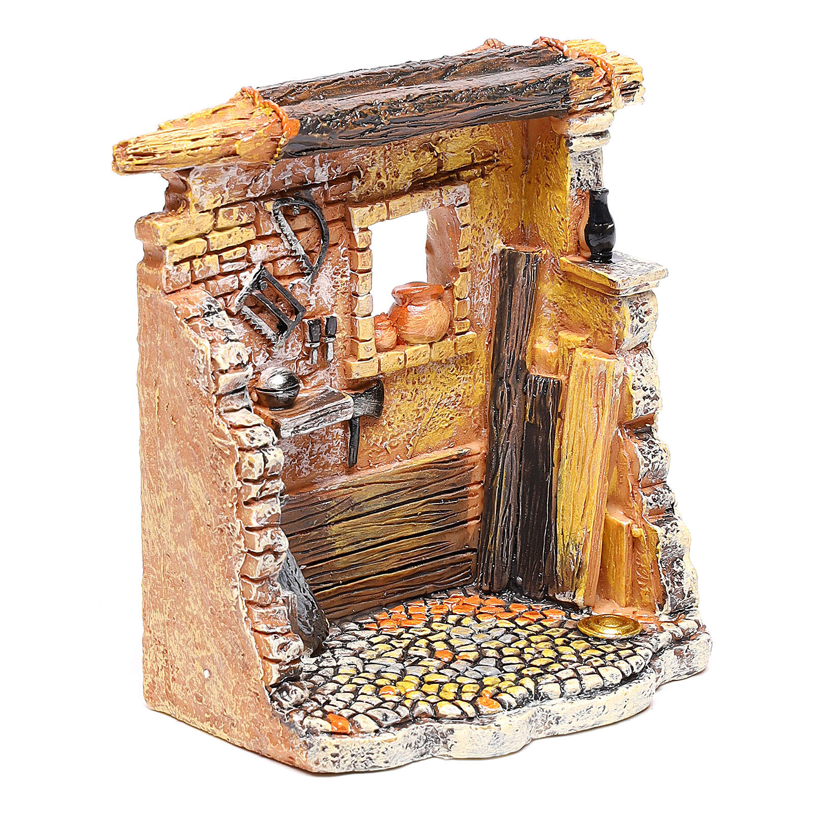 Miniature carpenter workshop 10x8x5 cm, for 6-8 cm nativity 4