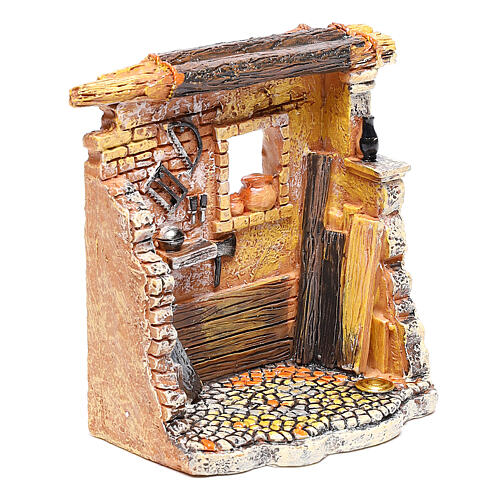 Miniature carpenter workshop 10x8x5 cm, for 6-8 cm nativity 3