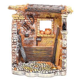 Ambientações para Presépio: lojas, casas, poços: Oficina de carpinteiro 10x8x5 cm para presépio com figuras de 6-8 cm de altura média