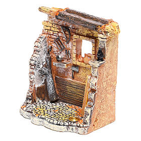 Oficina de carpinteiro 10x8x5 cm para presépio com figuras de 6-8 cm de altura média s2