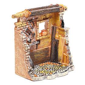 Oficina de carpinteiro 10x8x5 cm para presépio com figuras de 6-8 cm de altura média s3