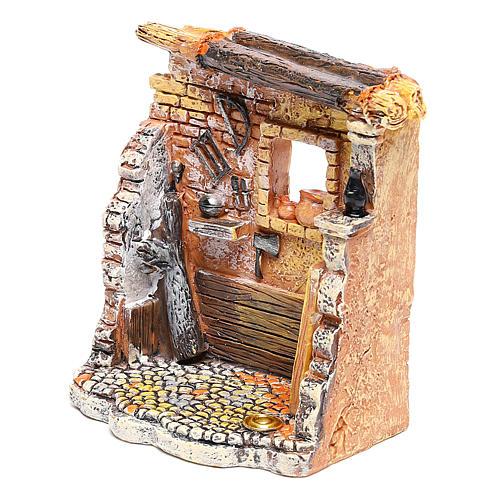 Oficina de carpinteiro 10x8x5 cm para presépio com figuras de 6-8 cm de altura média 2