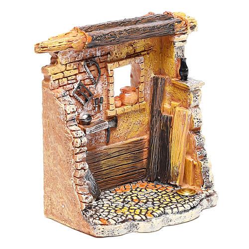 Oficina de carpinteiro 10x8x5 cm para presépio com figuras de 6-8 cm de altura média 3