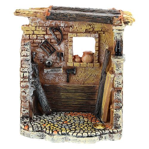 Oficina de carpinteiro 10x8x5 cm para presépio com figuras de 6-8 cm de altura média 5