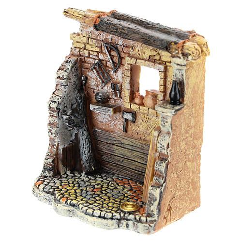 Oficina de carpinteiro 10x8x5 cm para presépio com figuras de 6-8 cm de altura média 6