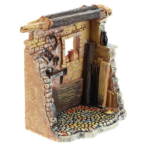 Oficina de carpinteiro 10x8x5 cm para presépio com figuras de 6-8 cm de altura média 7