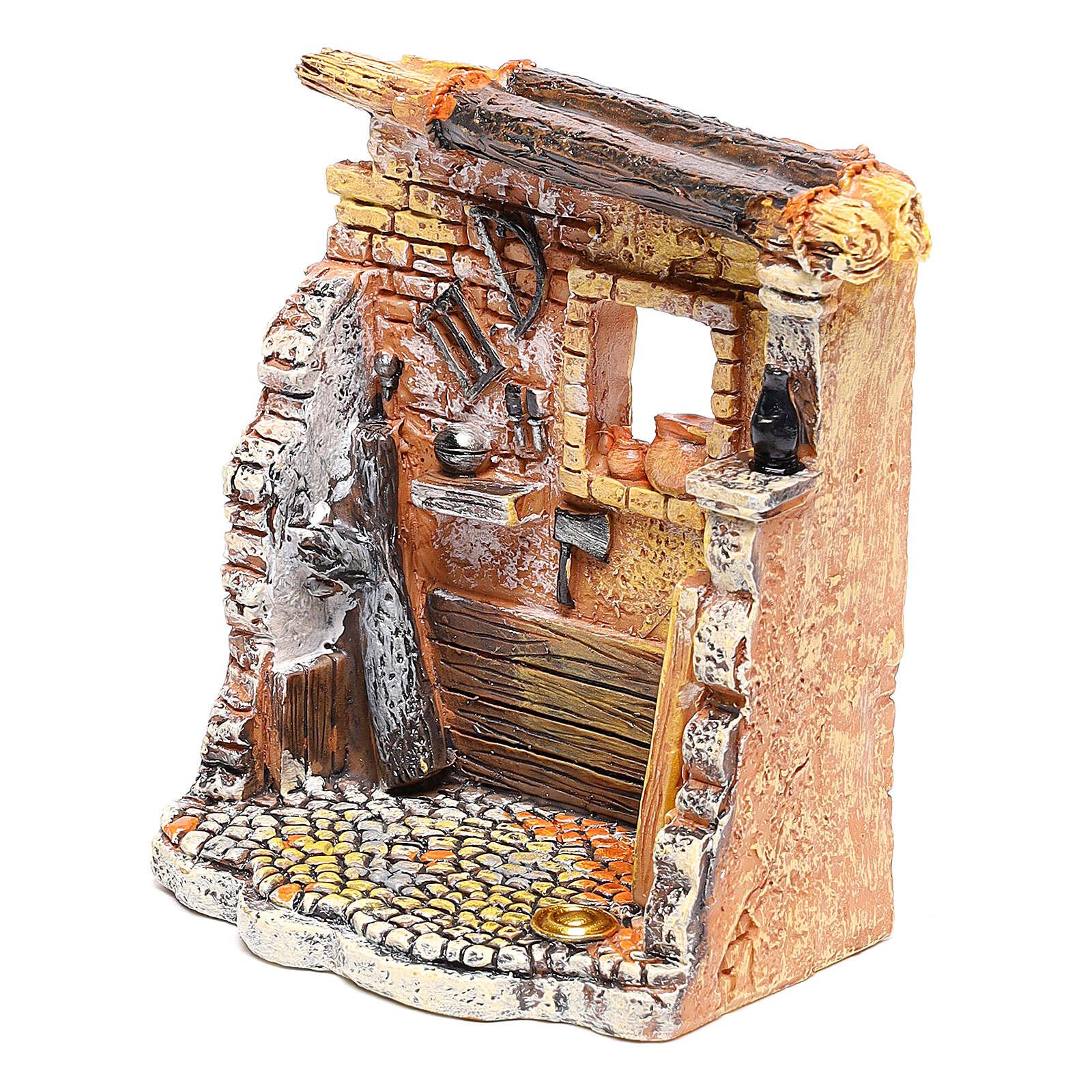 Miniature carpenter workshop 10x8x5 cm, for 6-8 cm nativity 4