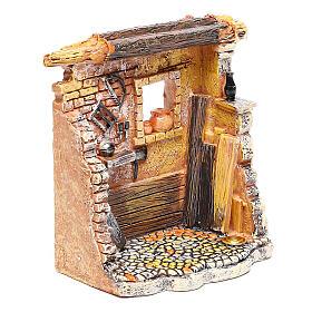 Miniature carpenter workshop 10x8x5 cm, for 6-8 cm nativity s3