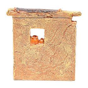 Miniature carpenter workshop 10x8x5 cm, for 6-8 cm nativity s4
